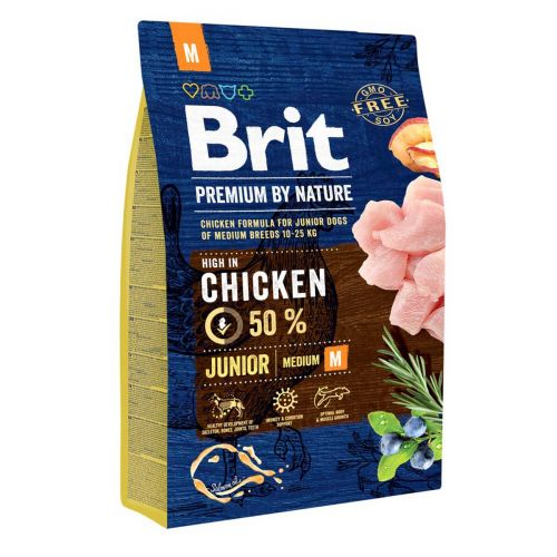 BRIT PREMIUM BY NATURE JUNIOR M CHICKEN 3 KG