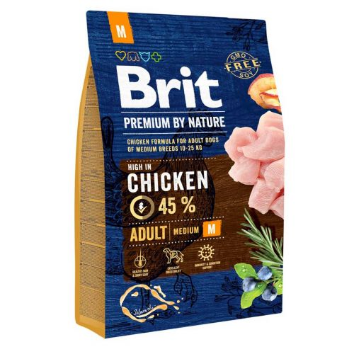 BRIT PREMIUM BY NATURE ADULT M CHICKEN 3 KG