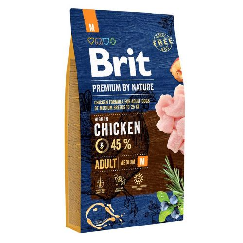 BRIT PREMIUM BY NATURE ADULT M CHICKEN 8 KG
