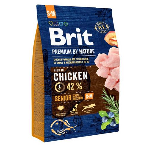 BRIT PREMIUM BY NATURE SENIOR S-M CHICKEN 3 KG