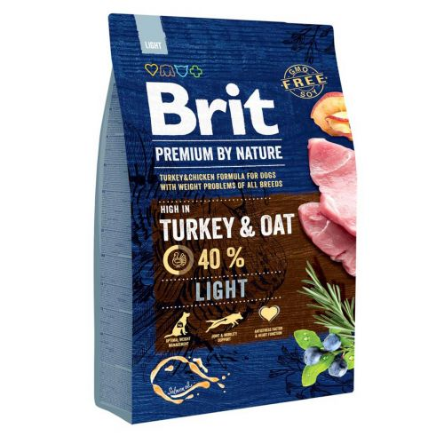 BRIT PREMIUM BY NATURE LIGHT TURKEY & OAT 3 KG