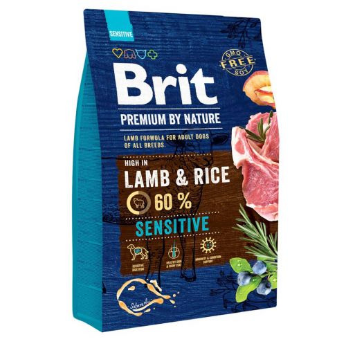 BRIT PREMIUM BY NATURE ADULT SENSITIVE LAMB & RICE 3 KG