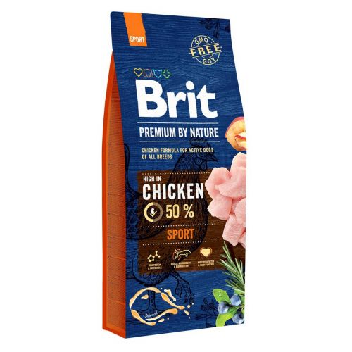 BRIT PREMIUM BY NATURE ADULT SPORT CHICKEN 15 KG