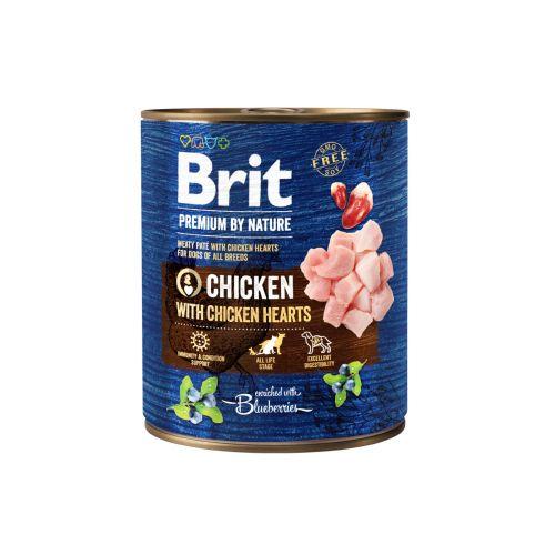 BRIT PREMIUM BY NATURE PATE CHICKEN WITH CHICKEN HEARTS 800 G