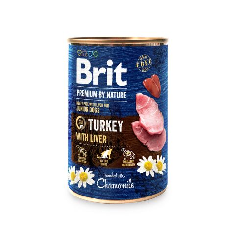 BRIT PREMIUM BY NATURE PATE TURKEY WITH LIVER 400 G