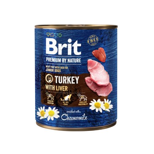 BRIT PREMIUM BY NATURE PATE TURKEY WITH LIVER 800 G