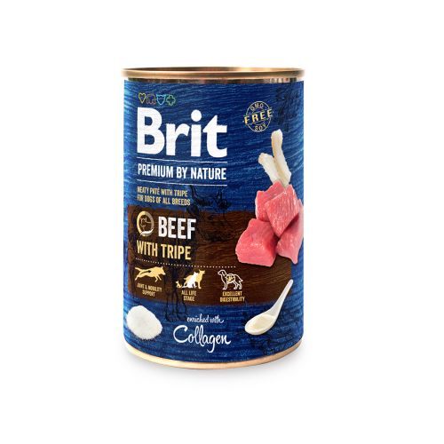 BRIT PREMIUM BY NATURE PATE BEEF WITH TRIPE 400 G