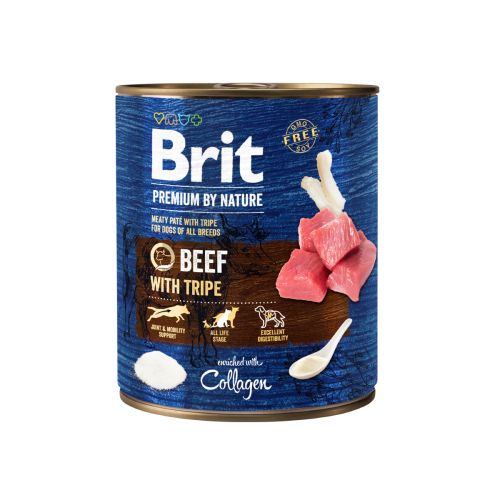 BRIT PREMIUM BY NATURE PATE BEEF WITH TRIPE 800 G