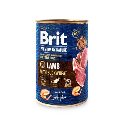 BRIT PREMIUM BY NATURE PATE LAMB WITH BUCKWHEAT 400 G