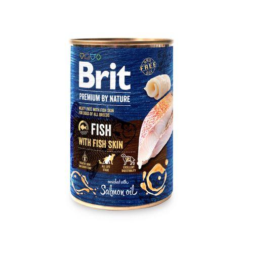 BRIT PREMIUM BY NATURE PATE FISH WITH FISH SKIN 400 G