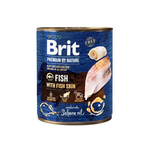 BRIT PREMIUM BY NATURE PATE FISH WITH FISH SKIN 800 G