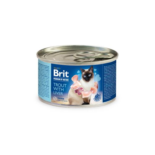 BRIT PREMIUM BY NATURE CAT TROUT WITH LIVER 200 G