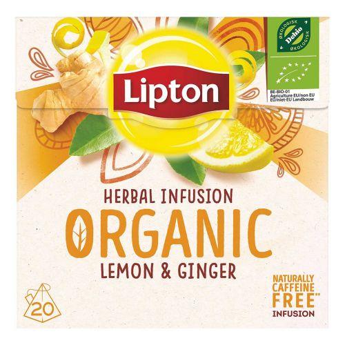 LIPTON LUOMU HERBAL INFUSION LEMON GINGER 20PS