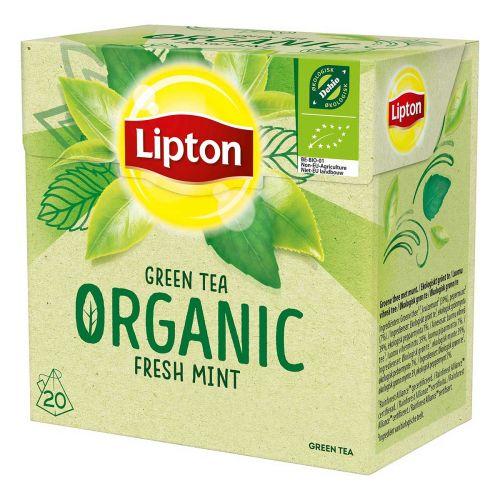 LIPTON LUOMU GREEN TEA FRESH MINT 20PS