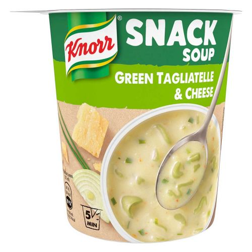 KNORR SNACK SOUP GREEN TAGLIATELLE CHEESE 52 G