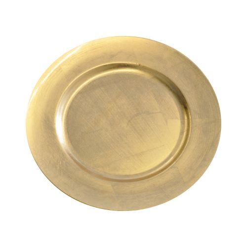 Kynttilänaluslautanen 33cm kulta