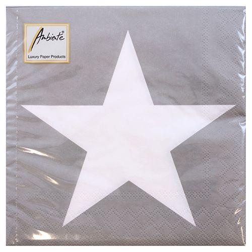 AMBIENTE LAUTASLIINA 33X33CM STAR GREY