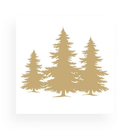 AMBIENTE LAUTASLIINA 33 TREE SILHOUETTE GOLD