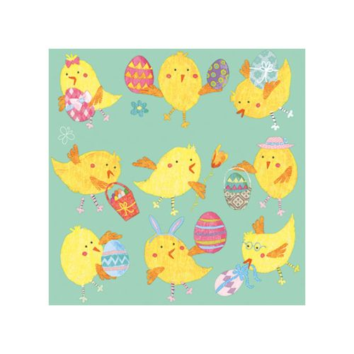 AMBIENTE LAUTASLIINA 33X33CM EASTER CHICKS MINT