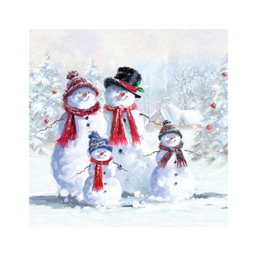 AMBIENTE LAUTASLIINA 33X33 SNOWMAN WITH HAT