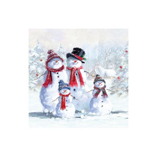 AMBIENTE LAUTASLIINA 25X25 SNOWMAN WITH HAT