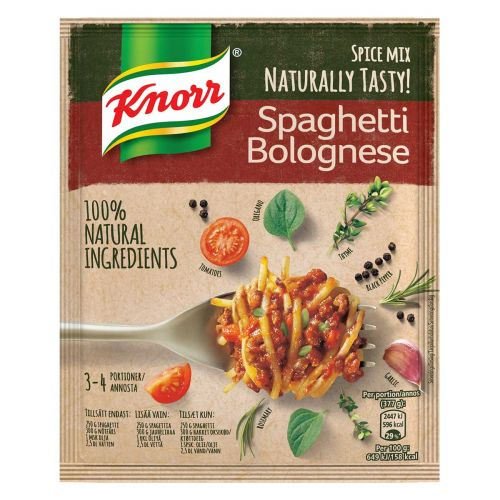 KNORR SPAGHETTI BOLOGNESE ATERIA-AINES 43 G