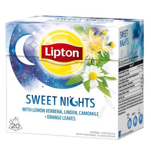 LIPTON PYRAMID SWEET NIGHTS YRTTITEE 20PS
