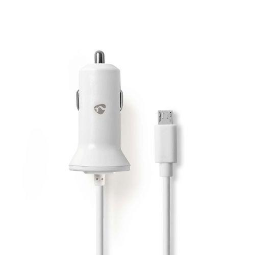 SWEEX AUTOLATURI 2.4 A, MICRO USB, VALKOINEN