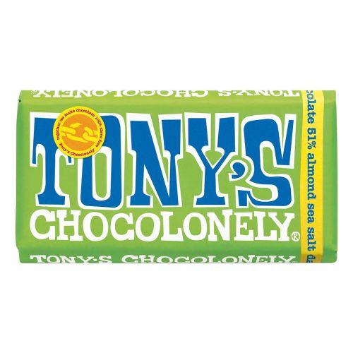 TONY'S DARK ALMOND SEA SALT TUMMA SUKLAA 180 G