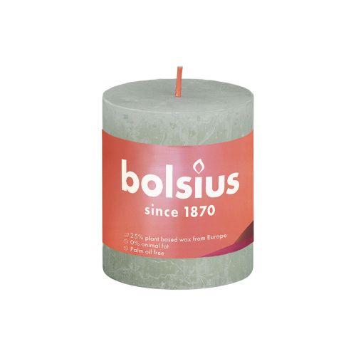 BOLSIUS PÖYTÄKYNTTILÄ 80/68 RUSTIC FOGGY GREEN