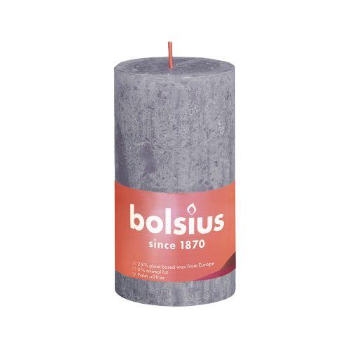 BOLSIUS PÖYTÄKYNTTILÄ 130/68 RUSTIC FROSTED LAVENDER