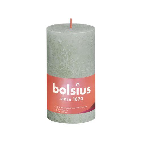 BOLSIUS PÖYTÄKYNTTILÄ 130/68 RUSTIC FOGGY GREEN