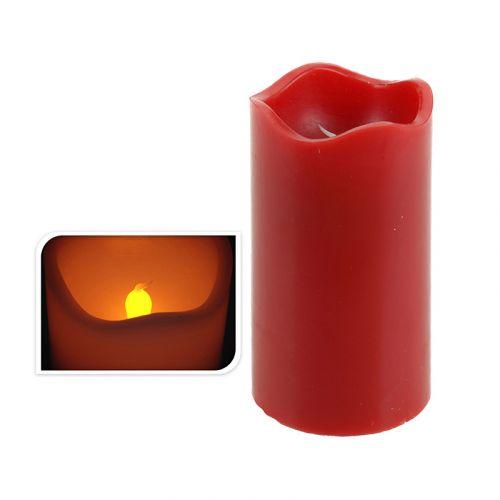 Led kynttilä ajastimella 7x13cm punainen