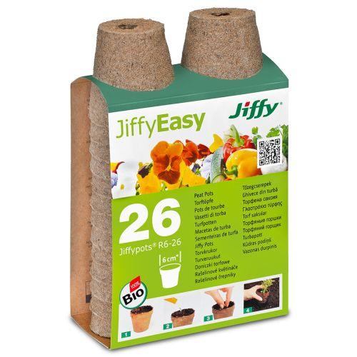 JiffyEasy turveruukku 6cm 26kpl