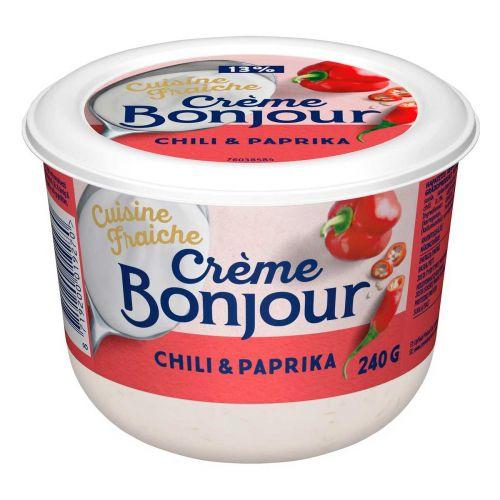 CREME BONJOUR CUISINE FRAICHE CHILI&PAPRIKA 13% 240 G