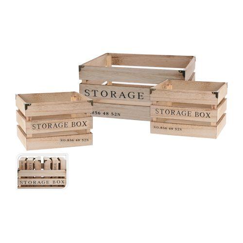 PUULAATIKKO STORAGE BOX 240X185X160MM