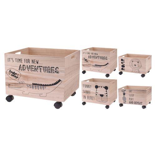 Laatikko pyörillä 400x340x330mm