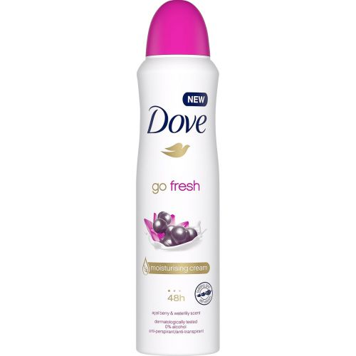 DOVE GO FRESH ACAI BERRY&WATER LILY ANTIPERSPIRANT SPRAY 150 ML