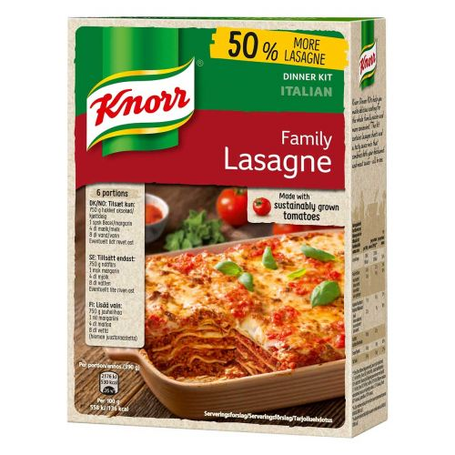 KNORR FAMILY LASAGNE ATERIA-AINEKSET 363 G
