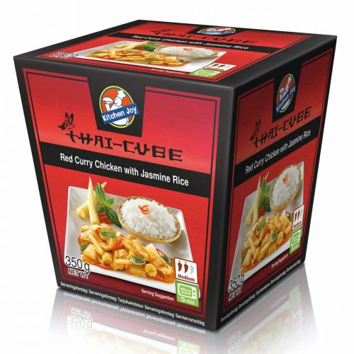 KITCHEN JOY THAI-CUBE PUNAINEN CURRYKANA-RIISI 350 G