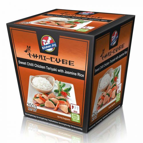 KITCHEN JOY THAI-CUBE TERIYAKI BROILERI-RIISI 350 G