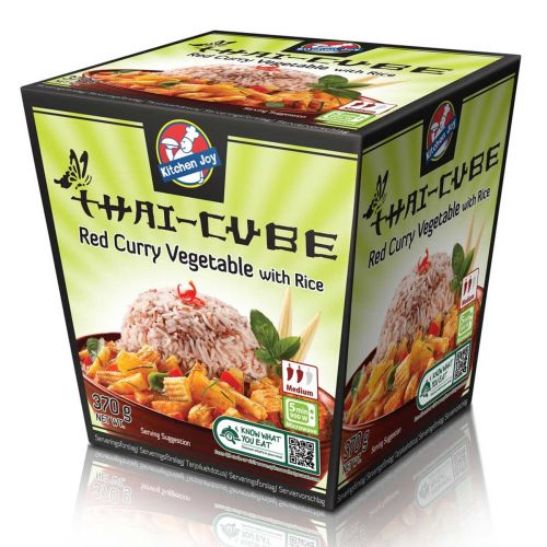KITCHEN JOY THAI-CUBE PUNAINEN CURRY-KASVIS-RIISI 370 G
