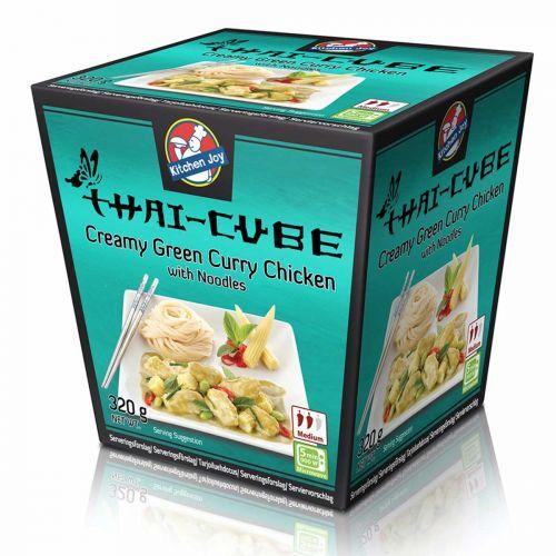 KITCHEN JOY THAI-CUBE CREAMY GREEN CURRYKANA-NUUDELI 320 G