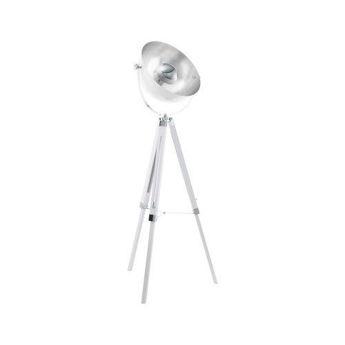 Eglo Covaleda lattiavalaisin 164cm, valkoinen/hopea