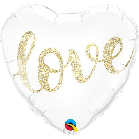 Love sydän kullankimallus foliopallo 40cm