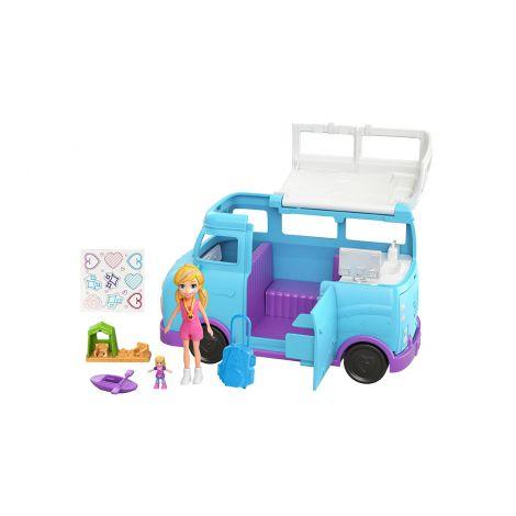Polly Pocket asuntoauto+tarvikkeet