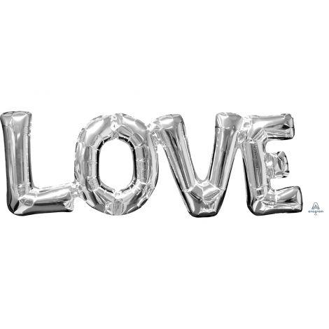 Foliokirjainpallo LOVE, puhallettava