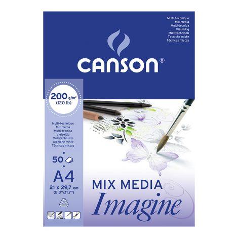 CANSON IMAGINE 200G A4 (50) AKVARELLI- JA MONITEKNIIKKALEHTIÖ