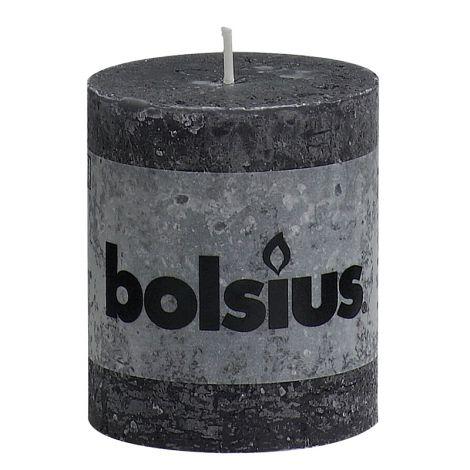 BOLSIUS RUSTIIKKIKYNTTILÄ 80/68 MUSTA