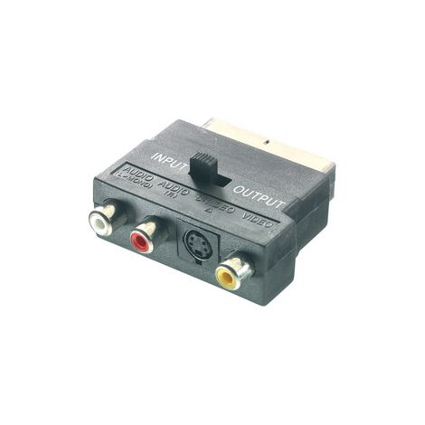 VIVANCO SCART UROS - S-VHS+2XRCA NAARAS ADAPTERI